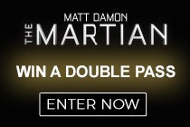 WIN a DOUBLE PASS to see an advance screening of The Martian with a mate!