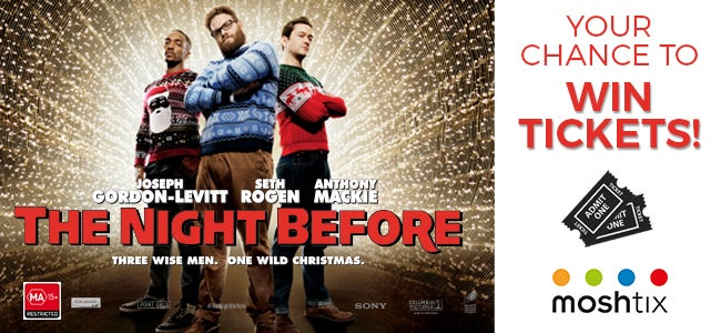 WIN A Double Pass To See THE NIGHT BEFORE For A Night Of Laugh Therapy!