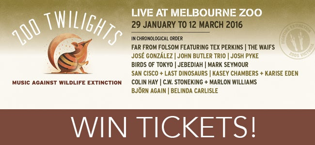 WIN Double Passes To See Jebediah At Zoo Twilights!