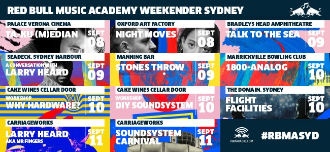 For The First Time, The Red Bull Music Academy Weekender Hits Sydney!