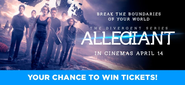 Dying To See The New ALLEGIANT Movie? Enter Now To WIN 1 Of 50 Double Passes!