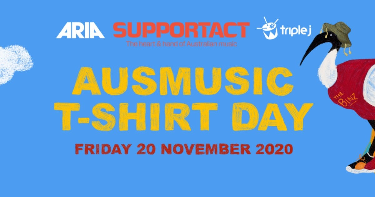 Don Your Finest Aussie Music Shirt This Friday For Ausmusic T-Shirt Day!