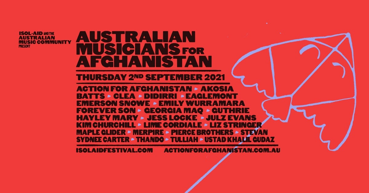 Online Streaming Festival Isol-Aid Are Hosting A Digital Fundraiser Event For Afghanistan Tomorrow