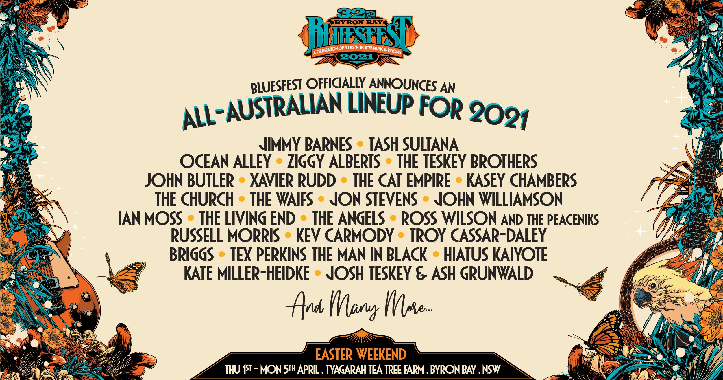 Moshtix 2021 All-Aussie Lineup Announced