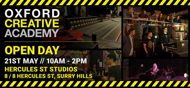 Learn About The Music Industry At The Oxford Creative Academy - Open Day Registrations Available Now