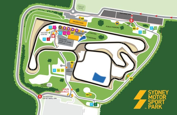 Sydney Motorsport Park Map