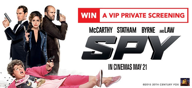 WIN A Private Gold Class Screening Of Spy For 30 People