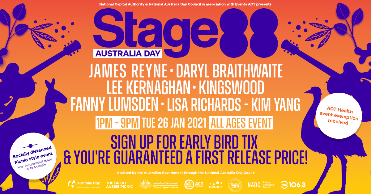James Reyne, Daryl Braithwaite & More To Play Stage 88 Australia Day Concert In Canberra