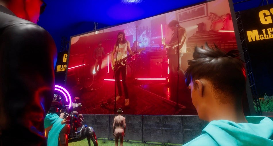The Southern Rive Band at Splendour XR on a virtual stage