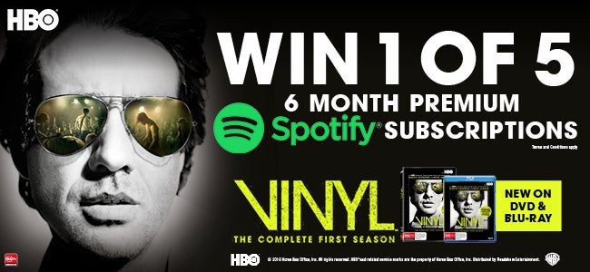 Hooked on HBO's Vinyl? Enter Now To Win 1 of 5 Vinyl DVD's + Spotify Premium Subscriptions!