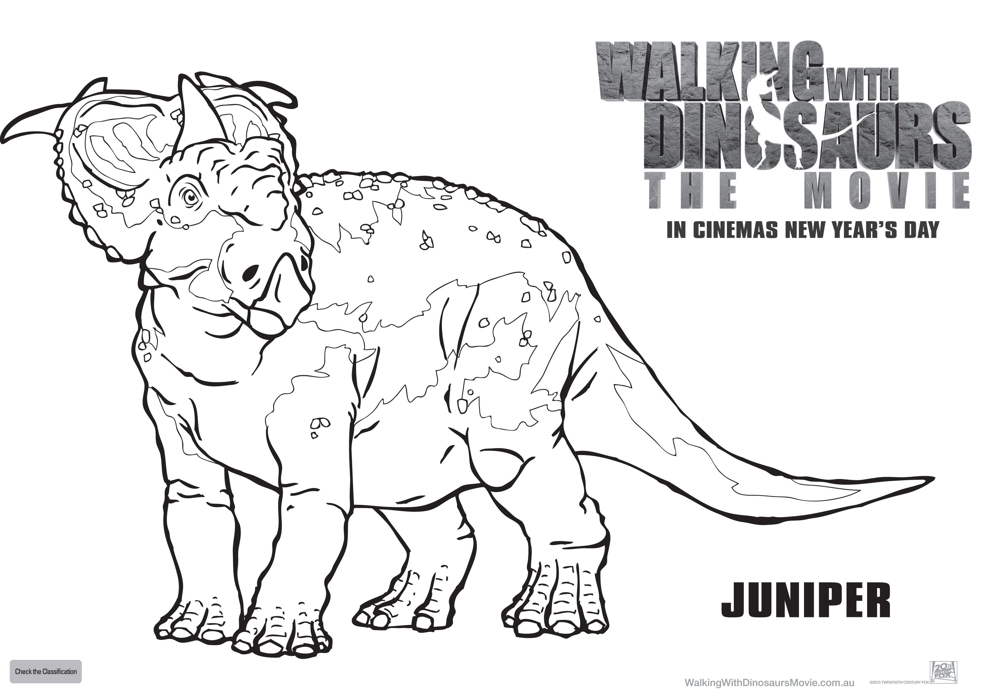 walking with dinosaurs coloring pages-#47