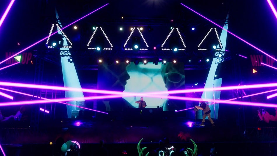 What So Not performing on a virtual stage at Splendour XR