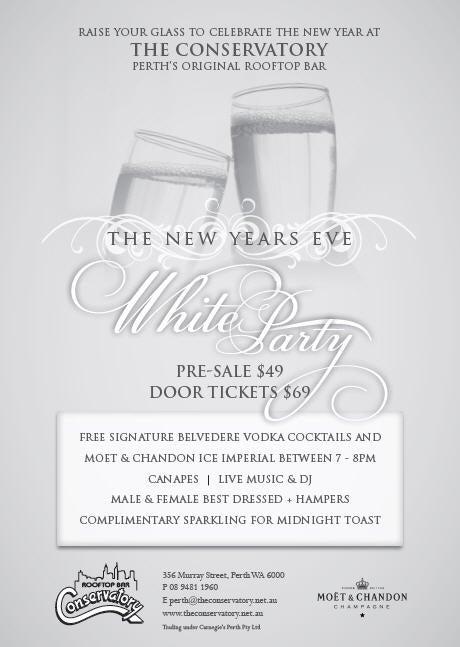 Buy New Years Eve White Party tickets, WA 2011 | Moshtix