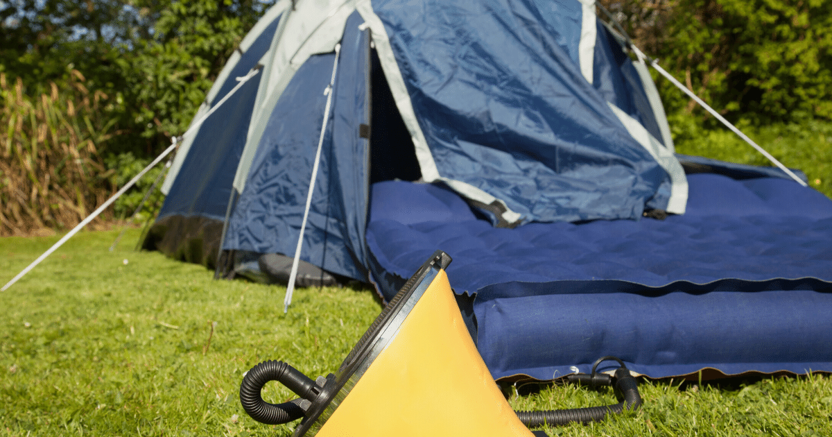Mattress for camping at a Festival
