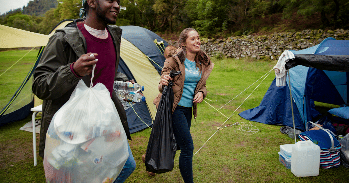 Bring extra garbage bags and clean up as you go