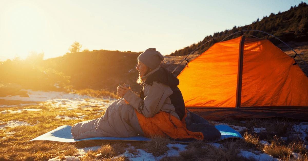 Sleeping bag for camping festival