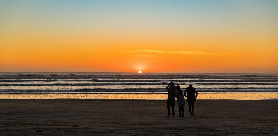 Sunset at Oreti Beach new zealand