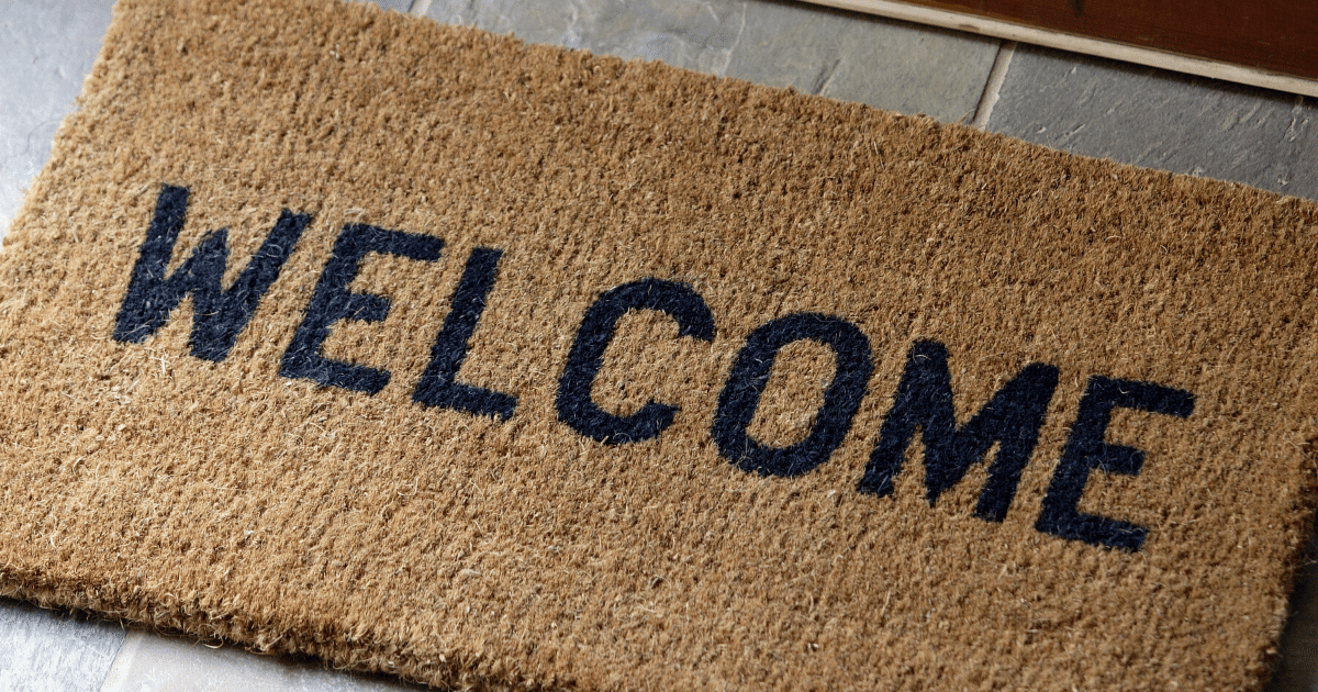 Welcome mat to avoid the festival making it into your sleeping bag