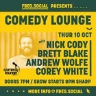 Comedy Lounge ft. Nick Cody, Brett Blake, Andrew Wolfe & Corey White