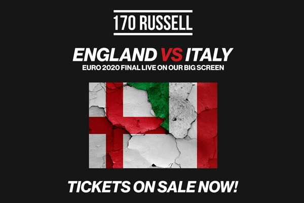 ITALY vs ENGLAND EURO FINAL at 170 Russell