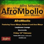 AfroMbollo - Fri 12 Feb