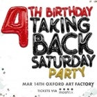 TAKING BACK SATURDAY – 4th Birthday Party!