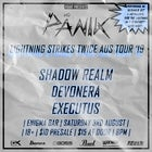 "Panik ""the lightning strikes twice tour"""