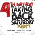 TAKING BACK SATURDAY 4TH BIRTHDAY PARTY