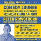 Comedy Lounge with Peter Rowsthorn, Lewis Garnham, Tim Hewitt & Laura Hutchinson