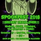 SPOOKFest 2018 ft. WALKEN, SOOK, Bullshirt, The Darrans + more!