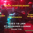 Steve Hunter Band - Tues 19 Jan