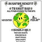 Bushfire Benefit @ Transit w/ The Narcissists, Powder Blue & more.