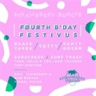 A Strawberry Boogie 4th Birthday - 3 Stage Festivus w/ Raave Tapes // TOTTY // Party Dozen // Sunscreen // Surf Trash & More!